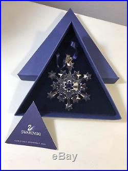 2004 Swarovski Crystal Star SNOWFLAKE CHRISTMAS ORNAMENT