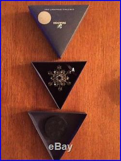 2004 Swarovski Crystal Star SNOWFLAKE CHRISTMAS ORNAMENT/ Rockefefeller/Boxed