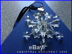 2004 Swarovski Large Annual Crystal Snowflake Christmas Ornament, Retired
