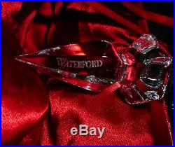 2004 Waterford Crystal SNOW CRYSTALS Christmas Spire Ornament with Hook