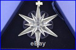 2005 Swarovski Crystal Annual Snowflake Christmas Ornament With Box