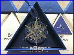 2006 Swarovski Crystal Christmas Tree Star Ornament Collectible COA & Box Mint