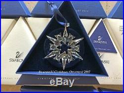 2007 Swarovski Crystal Christmas Tree Star Ornament Collectible COA & Box Mint
