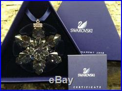 2008 NEW Swarovski Crystal Large Snowflake Christmas Ornament with certificate