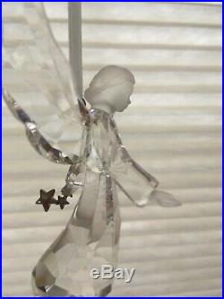 2008 Swarovski Crystal ANGEL 2008 Annual Christmas Ornament with star wand