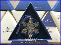 2008 Swarovski Crystal Christmas Tree Star Ornament Collectible COA & Box Mint