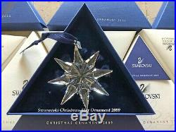 2009 Swarovski Crystal Christmas Tree Star Ornament Collectible COA & Box Mint