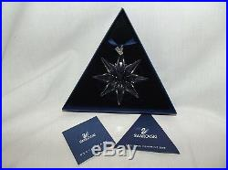2009 Swarovski Large Crystal Christmas Snowflake Ornament Mib