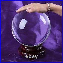 200mm 8 Clear Quartz Crystal Ball Sphere Free Wooden Stand Venue Decoration new