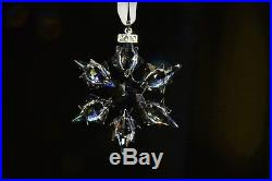 2010 NEW SWAROVSKI CRYSTAL LARGE SNOWFLAKE CHRISTMAS ORNAMENT WithCERTIFICATE/BOXE