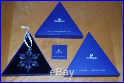 2010 Swarovski Annual Christmas Ornament Crystal Star/snowflake