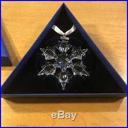 2010 Swarovski Crystal Annual Ornament 1041301 Large Christmas Star Snowflake