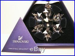 2010 Swarovski Crystal Annual Snowflake Christmas Ornament Retired with Box & COA