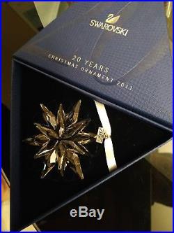 2011 Large Swarovski Crystal Christmas Ornament Star/snowflake 1092037