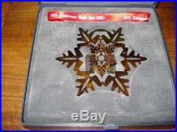 2011 Snow Crystal CHRISTMAS MOBILE 24 carat gold plated GEORG JENSEN. Box