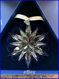 2011 Swarovski Crystal Large Christmas 20 Years Ornament Nib 1092037