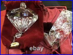 2011 Waterford Crystal Five Golden Rings Ornament 12 Days of Christmas 5th MIIB