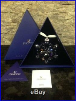 2012 NEW Swarovski Crystal Large Christmas Ornament withboth boxes & certificates