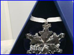 2012 Swarovski Crystal Annual Large Snowflake Star Christmas Ornament New in Box
