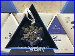 2012 Swarovski Crystal Christmas Tree Star Ornament Collectible COA & Box Mint