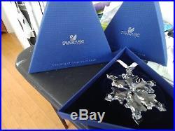 2012 Swarovski Crystal Snow Flake Christmas Ornament-nib
