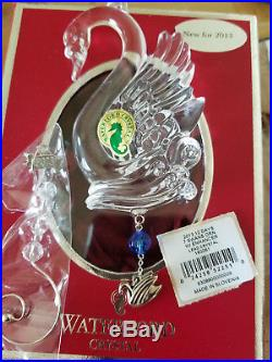 2013 Waterford Crystal 12 Days of Christmas 7 Swans-A-Swimmg Ornament Mint MIB