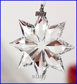 2013201420152016 SwarovskiSnowflake STAR Annual Christmas ORNAMENTset/4NIB