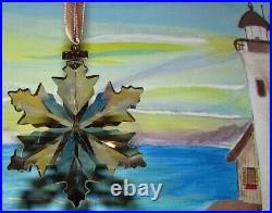 2014 Swarovski SCS GOLD Crystal Ornament, Large Annual Edition, MINT