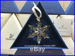 2015 Swarovski Crystal Christmas Tree Star Ornament Collectible COA & Box Mint