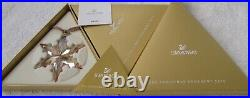 2015 Swarovski SCS GOLD Crystal Ornament, Large Annual Edition, MINT