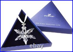 2015 SwarovskiSnowflake STAR Annual Christmas ORNAMENTNEWHolidayBoxDocument