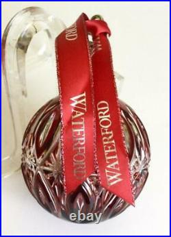 2017 Waterford Crystal Ruby Red Ball Christmas Ornament No Box