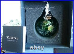 2018 Nib Waterford Crystal Annual Emerald Ball Christmas Ornament 40032596