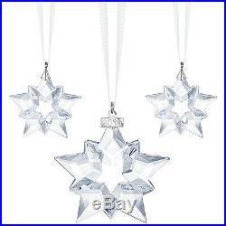 2019 Christmas Ornament Set (1 Annual, 2 Little Stars) Swarovski Crystal 5429600