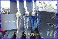2020 Nib Waterford Set Of 3 Ombre Topaz Icicle Christmas Ornament 1055102