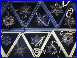 26+3 Swarovski Crystal Snowflake Annual Large Christmas Ornament Years 1991-2016