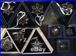 26+3 Swarovski Crystal Snowflake Annual Large Christmas Ornament Years 1991-2016