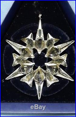 4 Swarovski Crystal Annual Snowflake Holiday Christmas Ornaments 2007 2008 2009