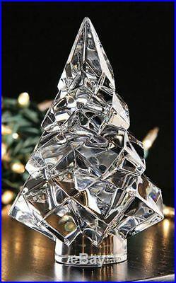 $420 Baccarat Crystal Noel Megeve Fir Christmas 5 Tree MINT IN BOX 2809174