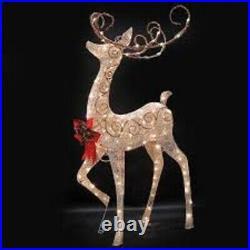 60 Crystal Splendor Deer 150 Lights Outdoor Christmas decoration NEW