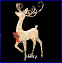60 Tall Crystal Splendor Deer 150 Lights Outdoor Christmas Decoration New