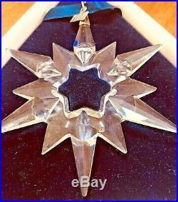 7 Swarovski Crystal Christmas Snowflake Ornaments 1995,1996,1997,1998.2003,2005