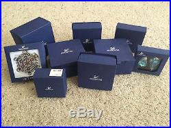 9 piece Holiday inspired Christmas Swarovski crystal collection