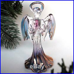 Angel Christmas Ornament Hand Blown Glass Figurine