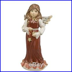 Angel of Dreams 30cm Christmas Ornament in Red with Swarovski Crystal by Goebel