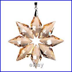 Annual Edition Crystal Glass Star Snowflake Wedding Xmas Home Ornament Lady Gift