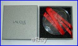 Authentic LALIQUE 2004 Noel Hellebore Flower Crystal Christmas Ornament NIB