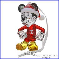 Authentic Swarovski Mickey Mouse X-Mas Figurine Ornament #5004690