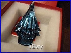 BACCARAT CRYSTAL Noel Ornament 2016 Christmas Tree BLUE NIB! Gorgeous