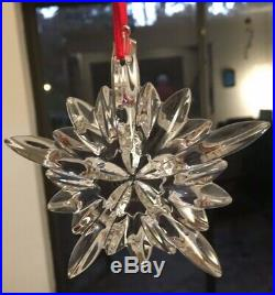 BACCARAT Courchevel Snowflake NOEL Christmas Ornament, New in Sealed Box